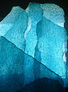 Glass Wall Glass Art - Glacial Wall by Rick Silas