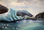 Glacier Paintings - Glacier 1 by Walt Foegelle