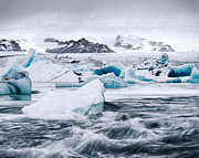 Jökulsá Prints - Glacier and Mini-bergs Print by Royce Howland