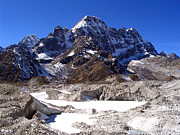 Mt Everest Base Camp Prints - Glacier Chaos Print by Tim Hester
