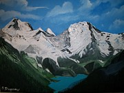 Landscape.by Sharon Duguay Originals - Glacier Lake by Sharon Duguay