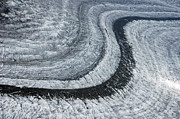 Winter Photos Prints - Glacier Moraine - lots of ice Print by Matthias Hauser