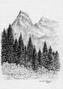 National Drawings Prints - Glacier Nat. Park Print by Al Intindola