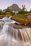 Mountain Stream Photo Posters - Glaciers Cascades Poster by Bernard Chen