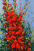 Gladiolus Paintings - Glad Gathering by Mark Daniels