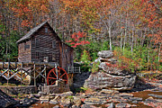 Grist Mills Photos - Glade Creek Grist Mill Babcock by Marcia Colelli
