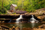 Old Mill Framed Prints - Glade Creek Grist Mill - Coopers Mill Framed Print by Gregory Ballos