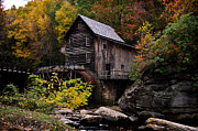 Beckley Wv Photographer Prints - Glade Creek Grist Mill in Fall Print by Lj Lambert