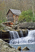 Water Mill Images Prints - Glade Creek Grist Mill Print by Kenny Francis