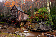 Water Mill Images Prints - Glade Creek Grist Mill Print by Larry Ricker