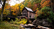 Beckley Wv Photographer Prints - Glade Creek Grist Mill Print by Lj Lambert