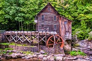 Wv Prints - Glade Creek Grist Mill Print by Steve Harrington