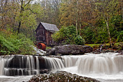 Grist Mills Photos - Glade Creek waterfall by Marcia Colelli
