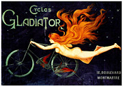 Illustrator Metal Prints - Gladiator Cycles Metal Print by Charles Ross