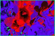 Dramatic Digital Art - Gladiola Abstract by Will Borden
