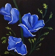 Gladiola Paintings - Gladiola by Beth Hirter