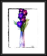 Gladiola Framed Prints - Gladiola Gorgeous Framed Print by Marsha Heiken