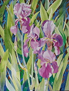Gladiola Paintings - Gladiolus by Jelly Starnes