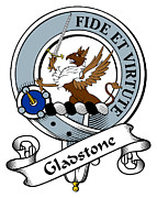 Genealogy Prints - Gladstone Clan Badge Print by Heraldry