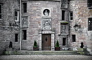 Coat Of Arms Prints - Glamis Castle. Doorway Print by RicardMN Photography