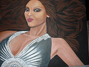 Evening Dress Painting Originals - Glamorous by Tammy Rekito