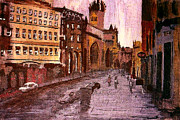 Kevin J Cooper Artwork Paintings - Glascow Street Corner by Kevin J Cooper Artwork