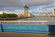 Glasgow Finnieston Crane Prints - Glasgow Belongs to Us Print by Liz Leyden