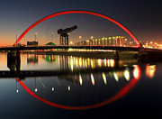 Scotland Images Prints - Glasgow Clyde Arc Bridge Print by Grant Glendinning
