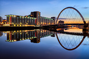 Images Of Night Prints - Glasgow Clyde Arc  Print by John Farnan