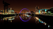Glasgow Scotland Cityscape Prints - Glasgow Clyde arc reflection Print by Grant Glendinning