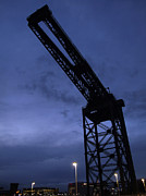 Glasgow Finnieston Crane Framed Prints - Glasgow Dock Crane 02 Framed Print by Antony McAulay
