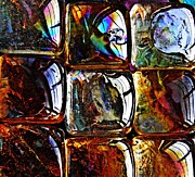 Browns Posters - Glass Abstract 12 Poster by Sarah Loft