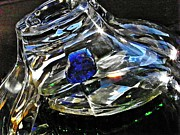 Glass Bowl Posters - Glass Abstract 136 Poster by Sarah Loft