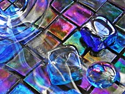 Mosaic Photos - Glass Abstract 240 by Sarah Loft