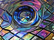 Distortion Framed Prints - Glass Abstract 242 Framed Print by Sarah Loft