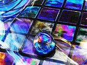 Mosaic Photos - Glass Abstract 256 by Sarah Loft
