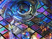Mosaic Photos - Glass Abstract 262 by Sarah Loft