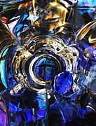 Glass Bowl Posters - Glass Abstract 275 Poster by Sarah Loft