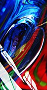 Distortion Framed Prints - Glass Abstract 293 Framed Print by Sarah Loft