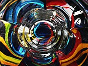 Distortion Framed Prints - Glass Abstract 295 Framed Print by Sarah Loft