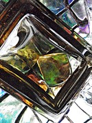 Distortion Prints - Glass Abstract 312 Print by Sarah Loft