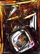 Distortion Framed Prints - Glass Abstract 322 Framed Print by Sarah Loft
