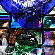 Squares Art - Glass Abstract 362 by Sarah Loft