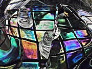 Pawn Posters - Glass Abstract 368 Poster by Sarah Loft