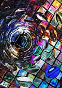 Distortion Photo Framed Prints - Glass Abstract 389 Framed Print by Sarah Loft