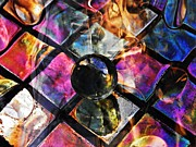 Tiles Framed Prints - Glass Abstract 393 Framed Print by Sarah Loft