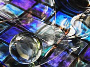 396 Prints - Glass Abstract 396 Print by Sarah Loft