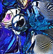 Marble Art - Glass Abstract 397 by Sarah Loft