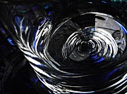 Glass Bowl Posters - Glass Abstract 434 Poster by Sarah Loft