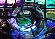 Glass Bowl Posters - Glass Abstract 436 Poster by Sarah Loft